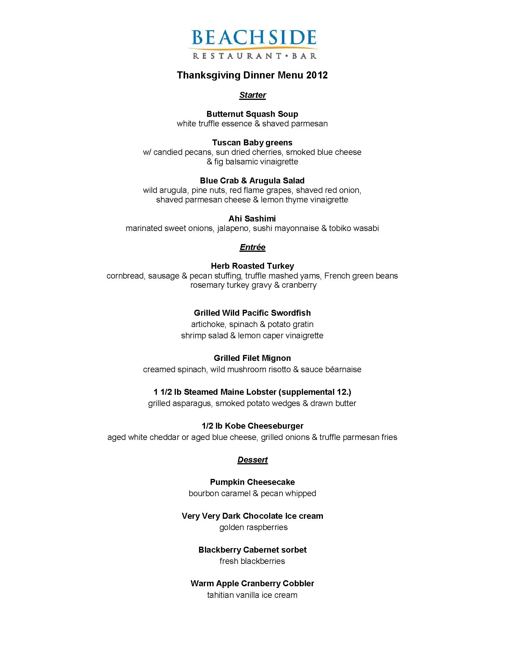 Pacifica hotels blog page 7 of 17 your guide to the for Traditional southern thanksgiving dinner menu